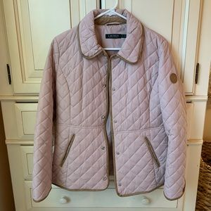 Ralph Lauren quilted light pink jacket -NEVER WORN